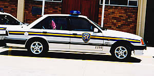 Port Elizabeth Traffic patrol car at department